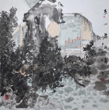 东山过雨图